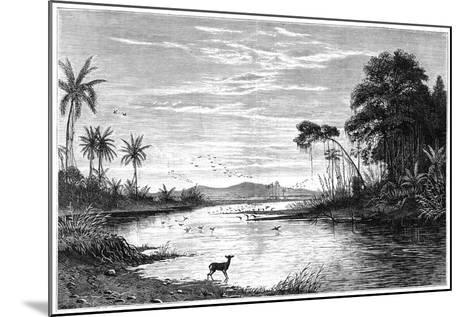 A River Scene in Venezuela, 1877--Mounted Giclee Print