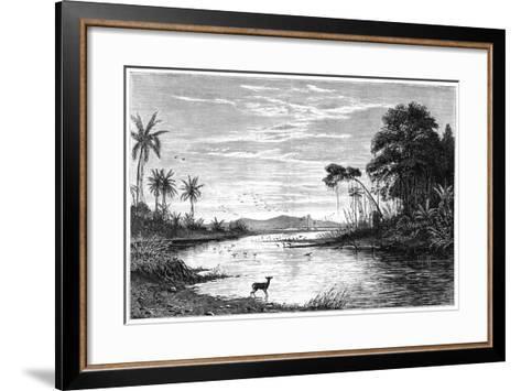 A River Scene in Venezuela, 1877--Framed Art Print