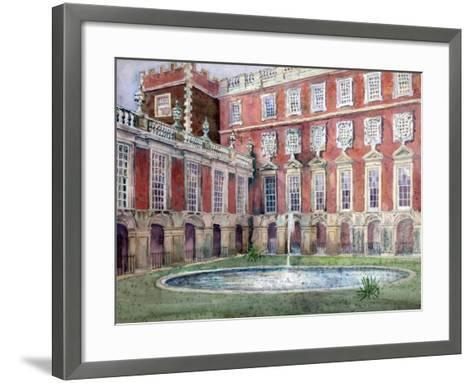 Fountain at Hampton Court Palace--Framed Art Print
