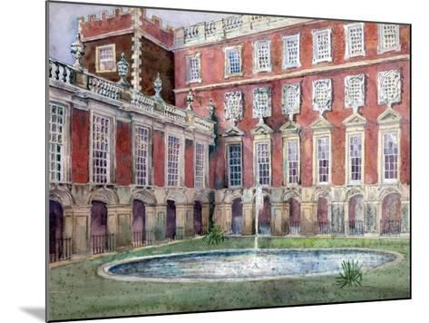 Fountain at Hampton Court Palace--Mounted Giclee Print