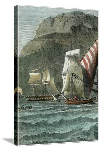 The Rock of Gibraltar, C1880--Stretched Canvas Print