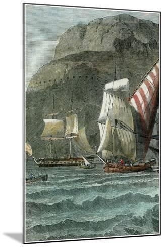 The Rock of Gibraltar, C1880--Mounted Giclee Print