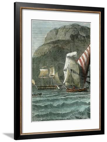 The Rock of Gibraltar, C1880--Framed Art Print