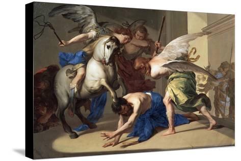 The Expulsion of Heliodorus from the Temple, C1650-Bernardo Cavallino-Stretched Canvas Print