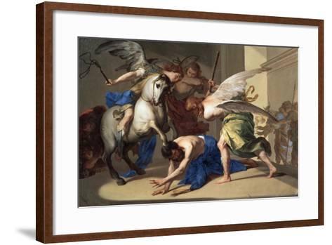 The Expulsion of Heliodorus from the Temple, C1650-Bernardo Cavallino-Framed Art Print