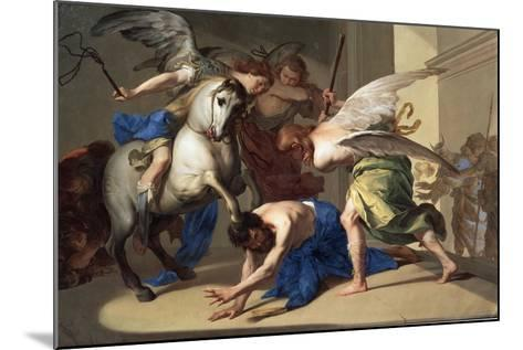 The Expulsion of Heliodorus from the Temple, C1650-Bernardo Cavallino-Mounted Giclee Print