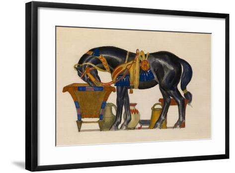 Watering Horse-L?on Bakst-Framed Art Print