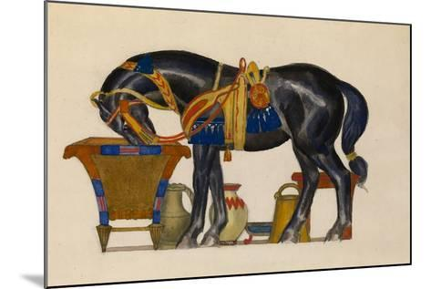 Watering Horse-L?on Bakst-Mounted Giclee Print