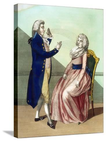 Hypnotist Mesmerising a Patient, C1795--Stretched Canvas Print