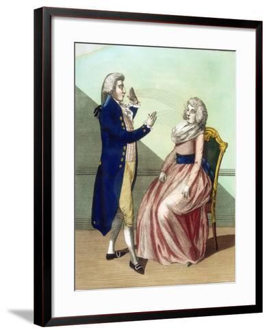 Hypnotist Mesmerising a Patient, C1795--Framed Art Print