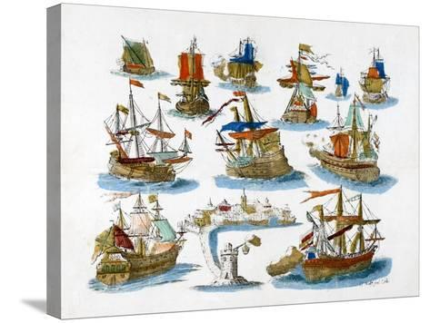 Warships, 18th Century--Stretched Canvas Print