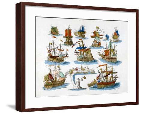 Warships, 18th Century--Framed Art Print