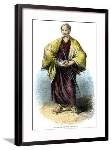 Custom-House Officer, Japan, 19th Century--Framed Art Print