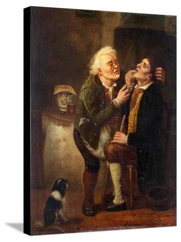 At the Dentist-Ferdinand de Braekeleer the Elder-Stretched Canvas Print