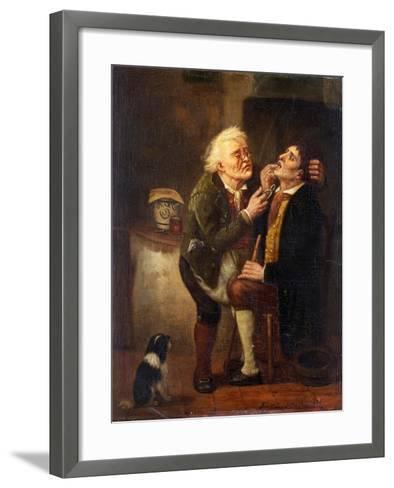 At the Dentist-Ferdinand de Braekeleer the Elder-Framed Art Print