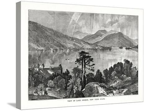 Lake George, New York State, USA, 1877--Stretched Canvas Print