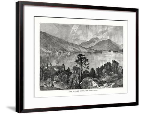 Lake George, New York State, USA, 1877--Framed Art Print