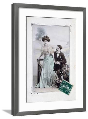 French Romantic Postcard, C1900--Framed Art Print