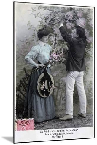 French Romantic Postcard, C1900--Mounted Giclee Print