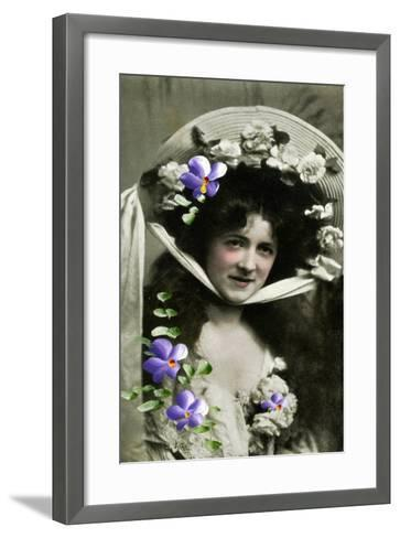 Gladys Huxley, Actress, 1908--Framed Art Print