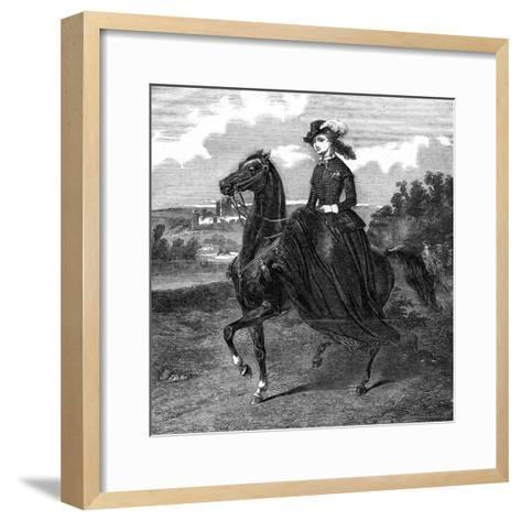 Empress of the French-Jacques-Louis David-Framed Art Print