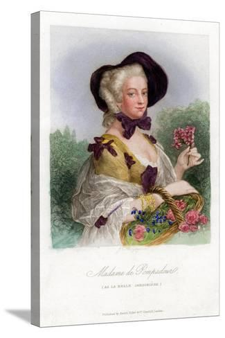 Madame De Pompadour, C1740-1800--Stretched Canvas Print