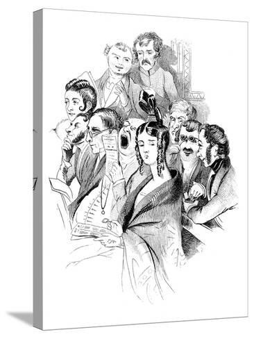 At a Concert, 19th Century--Stretched Canvas Print