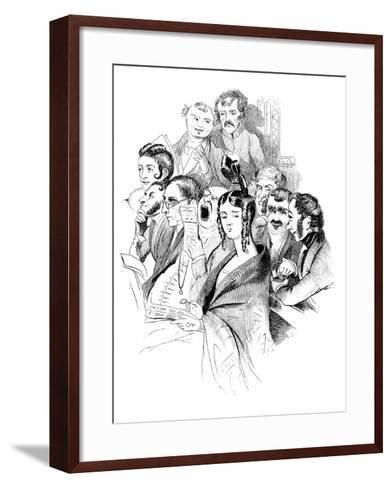 At a Concert, 19th Century--Framed Art Print