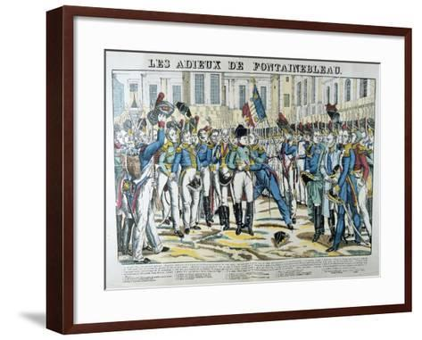 The Good-Byes of Fontainbleau, 19th Century--Framed Art Print