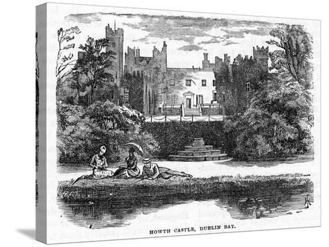 Howth Castle, Dublin Bay, 19th Century--Stretched Canvas Print