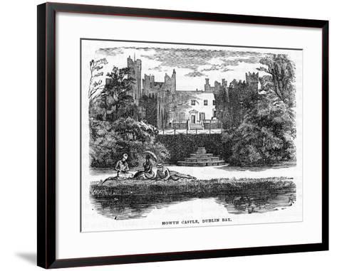 Howth Castle, Dublin Bay, 19th Century--Framed Art Print