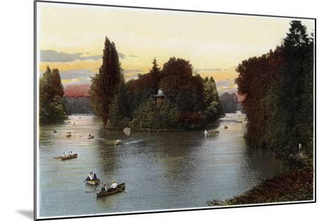 A Lake in the Bois De Boulogne, Paris, C1900--Mounted Giclee Print