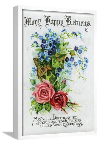 Many Happy Returns, Birthday Card, C1921--Framed Art Print
