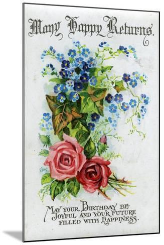 Many Happy Returns, Birthday Card, C1921--Mounted Giclee Print