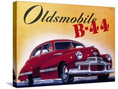 Poster Advertising an Oldsmobile B44, 1942--Stretched Canvas Print