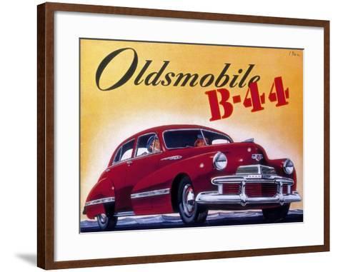Poster Advertising an Oldsmobile B44, 1942--Framed Art Print