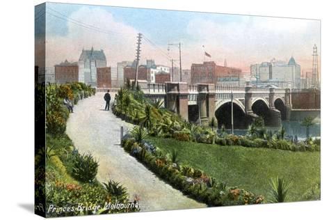 Princes Bridge, Melbourne, Australia, 1912--Stretched Canvas Print