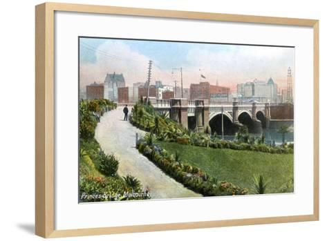Princes Bridge, Melbourne, Australia, 1912--Framed Art Print
