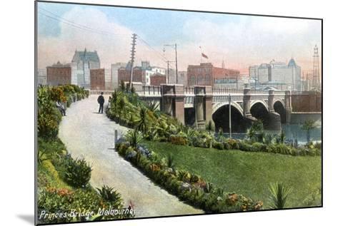Princes Bridge, Melbourne, Australia, 1912--Mounted Giclee Print