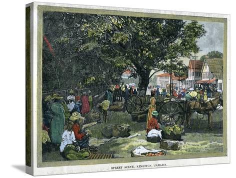 Street Scene, Kingston, Jamaica, C1880--Stretched Canvas Print