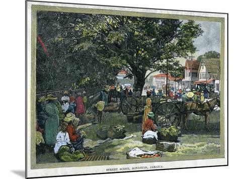 Street Scene, Kingston, Jamaica, C1880--Mounted Giclee Print