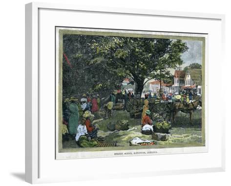 Street Scene, Kingston, Jamaica, C1880--Framed Art Print