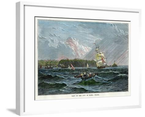 View of the City of Bahia, Brazil, C1880--Framed Art Print