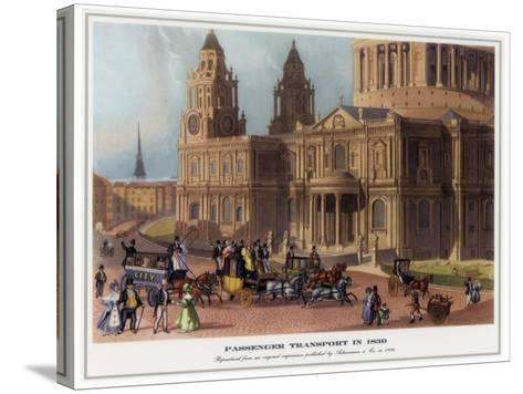 Passenger Transport in 1830--Stretched Canvas Print