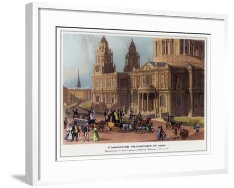 Passenger Transport in 1830--Framed Art Print