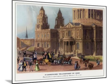 Passenger Transport in 1830--Mounted Giclee Print