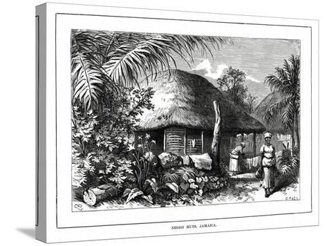 Negro Huts, Jamaica, 19th Century--Stretched Canvas Print