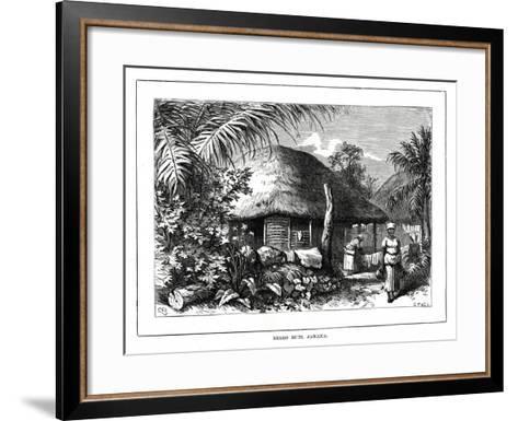 Negro Huts, Jamaica, 19th Century--Framed Art Print
