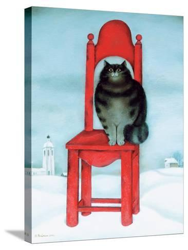 Red Chair, 1995-David Khaikin-Stretched Canvas Print