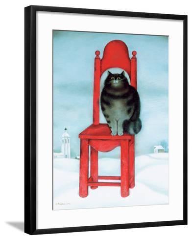 Red Chair, 1995-David Khaikin-Framed Art Print